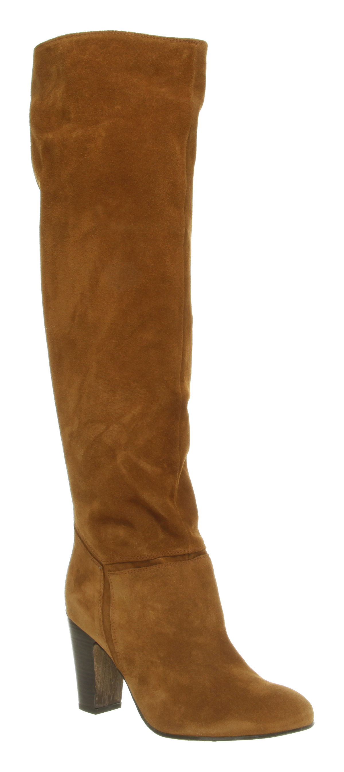 womens office knee high brown suede boots shoes