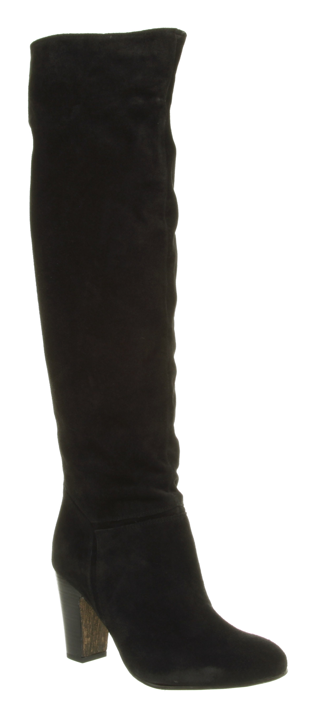 womens office knee high black suede boots shoes ebay