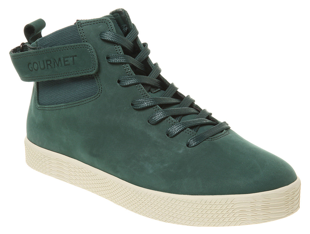 mens gourmet nove green suede trainers shoes new ebay