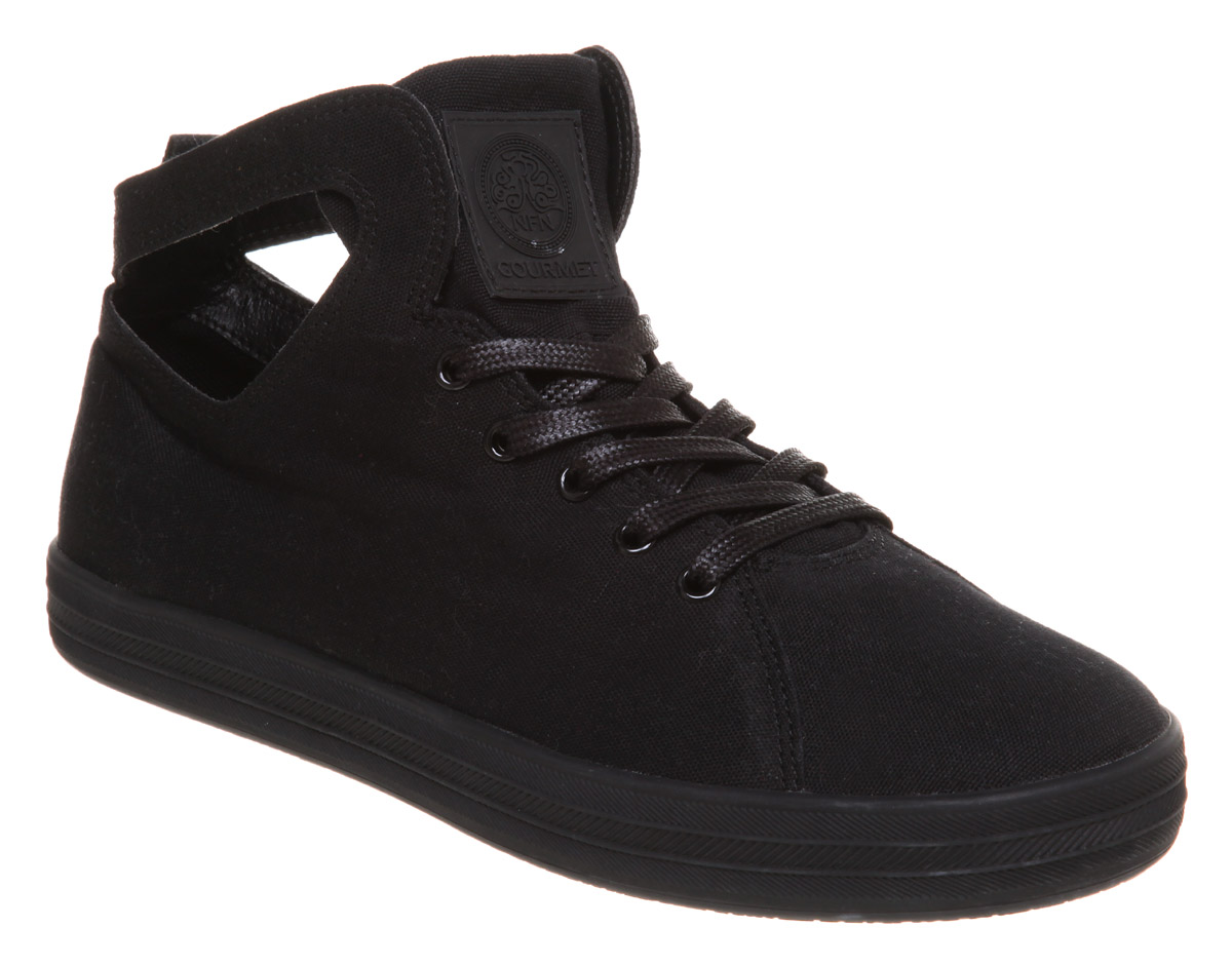 mens gourmet uno c mid black textile trainers shoes new ebay