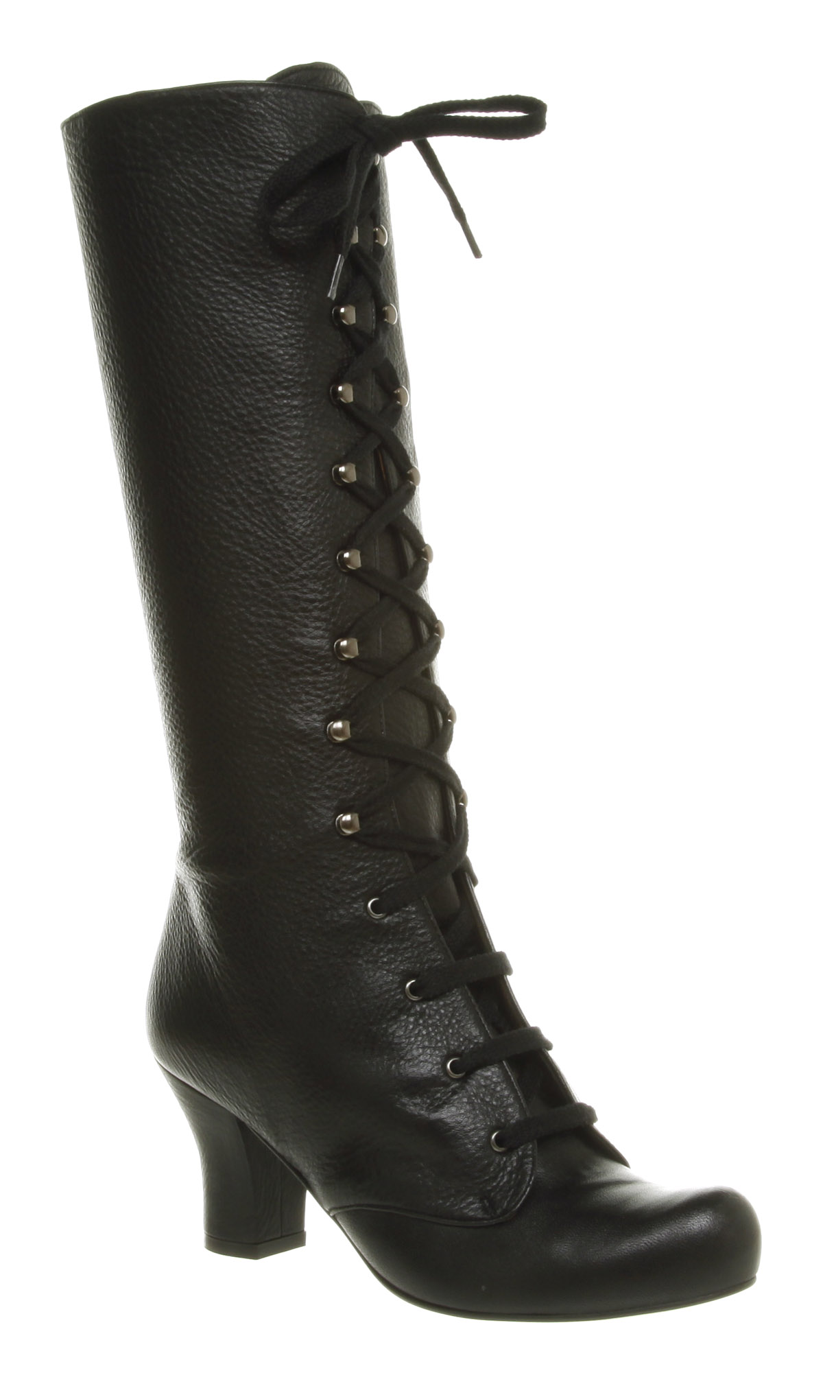 womens office jeanette knee high black leather boots ebay
