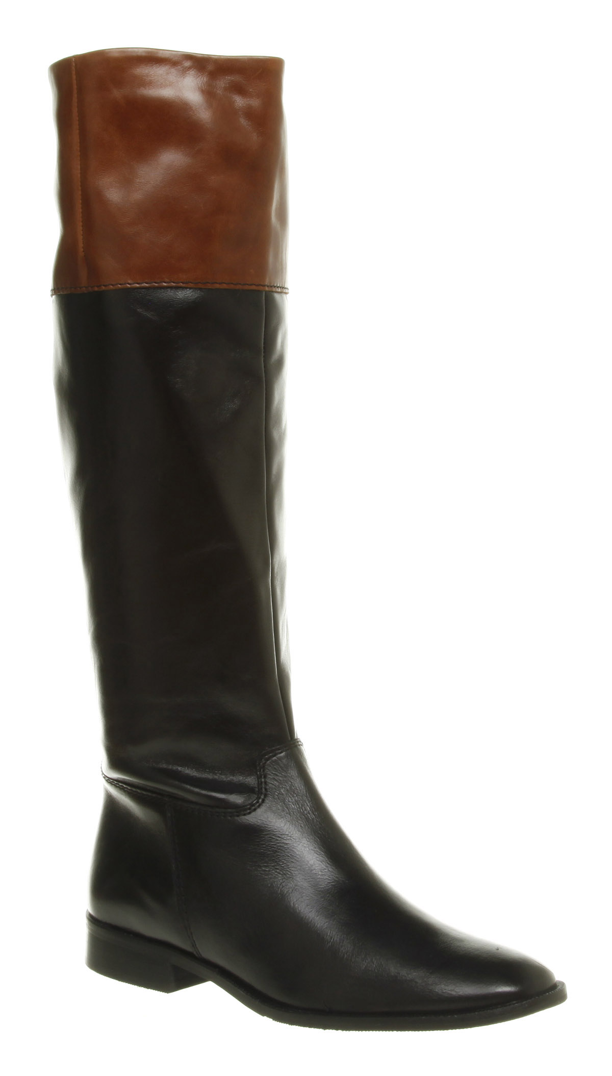 womens office journey on black brown leather boots new ebay