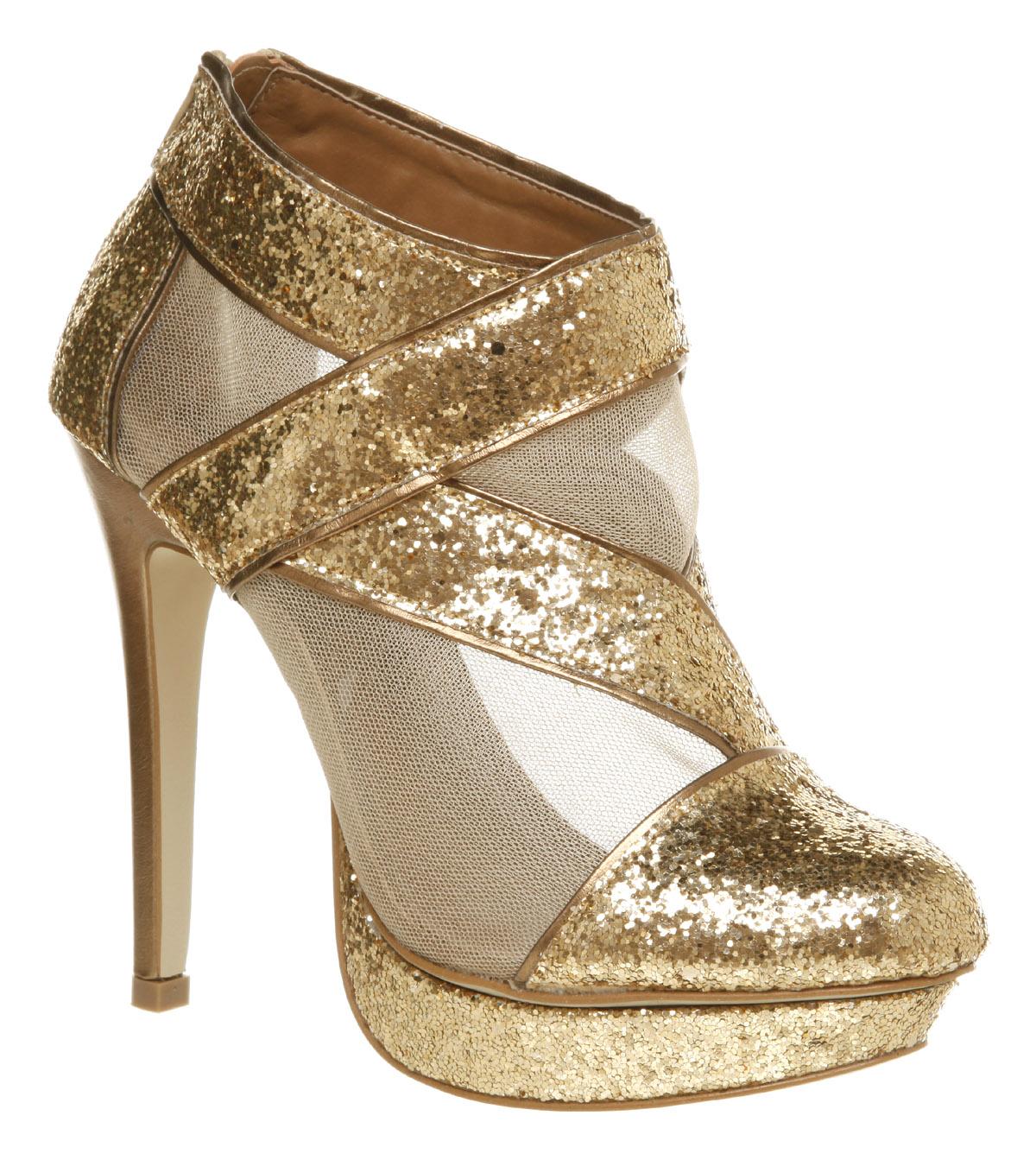 Womens Gold Heels - Is Heel