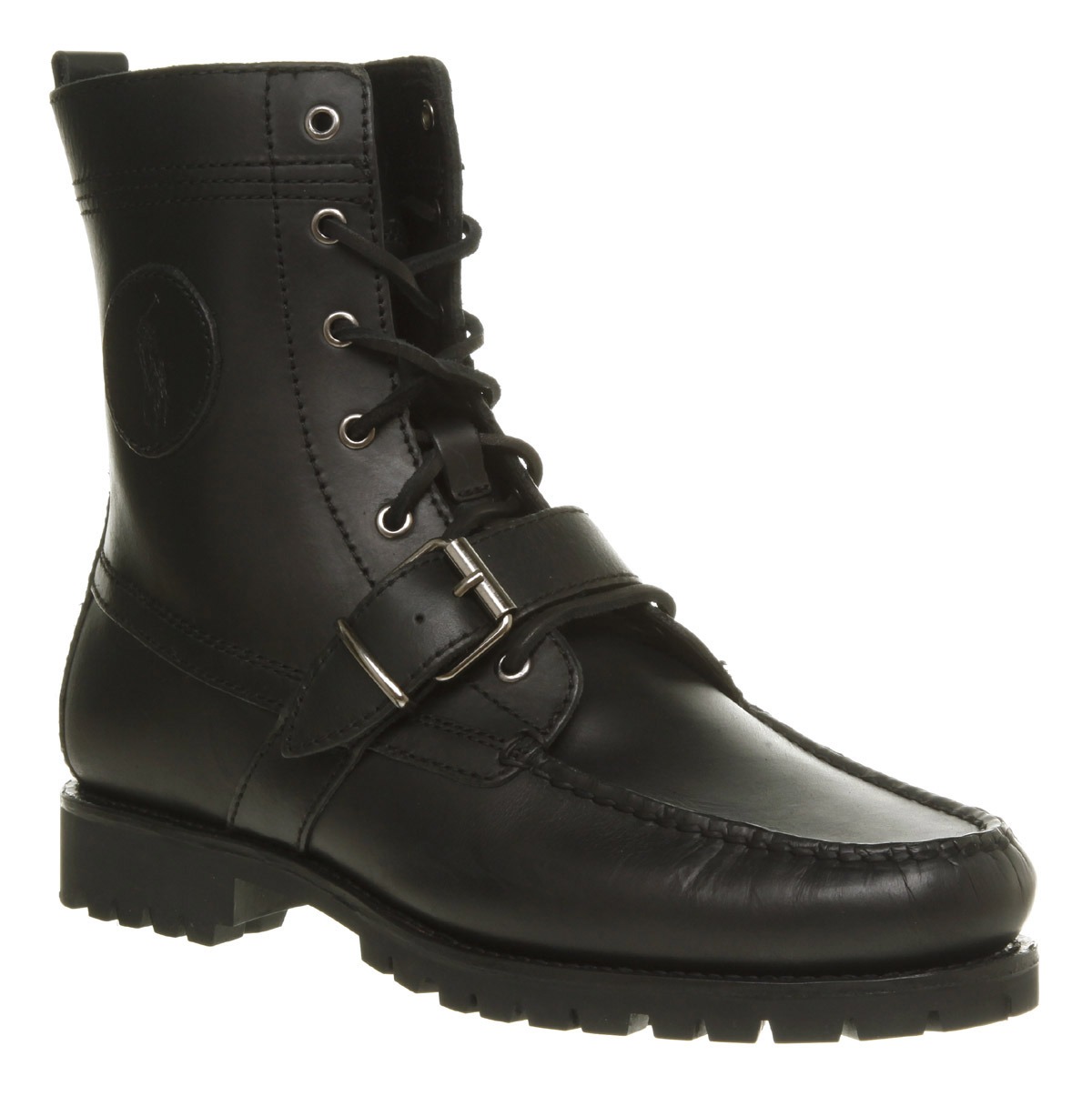 Mens-Ralph-Lauren-Ranger-Lace-Up-Black-Leather-Boots