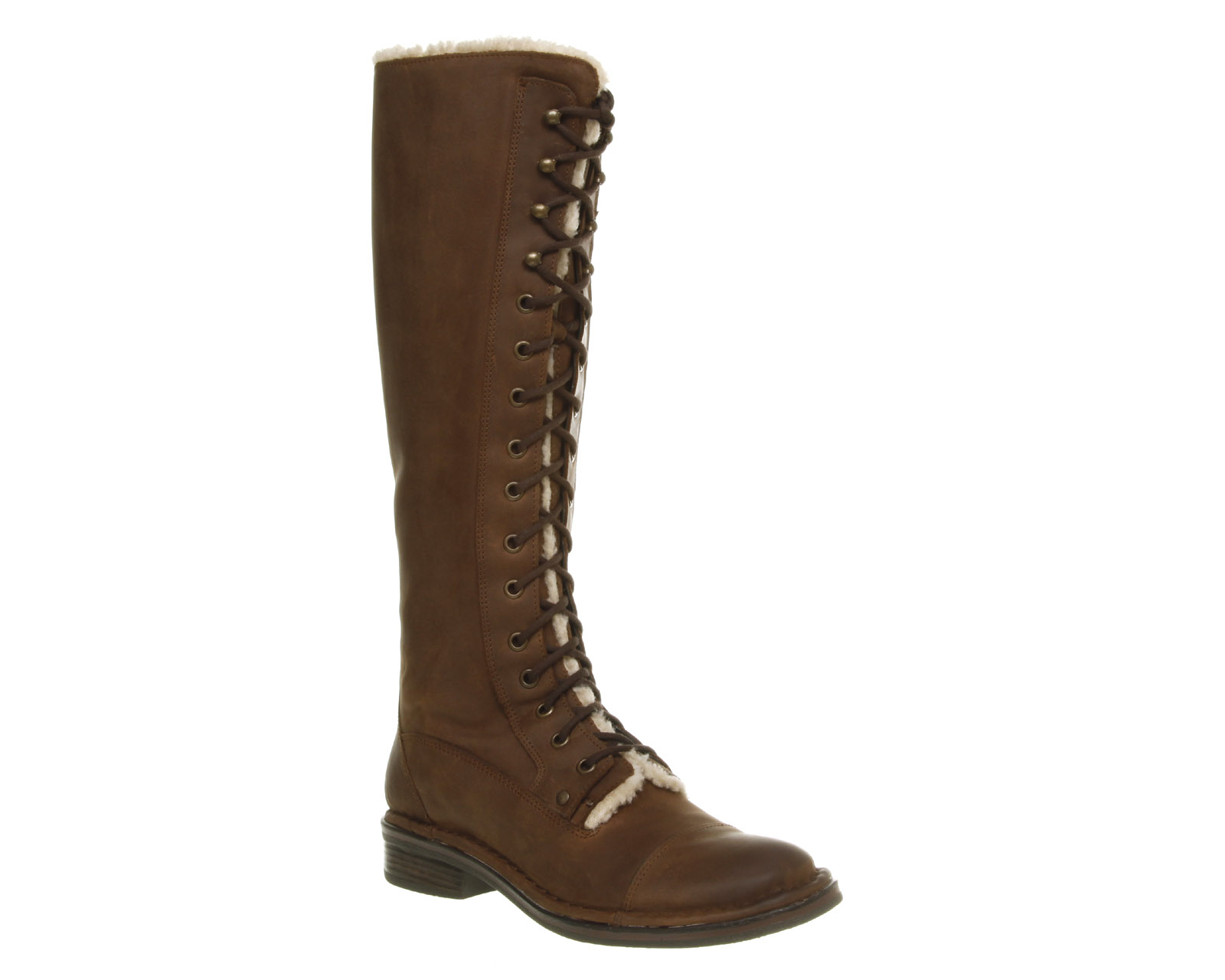 womens office jake lace knee high brown leather boots ebay