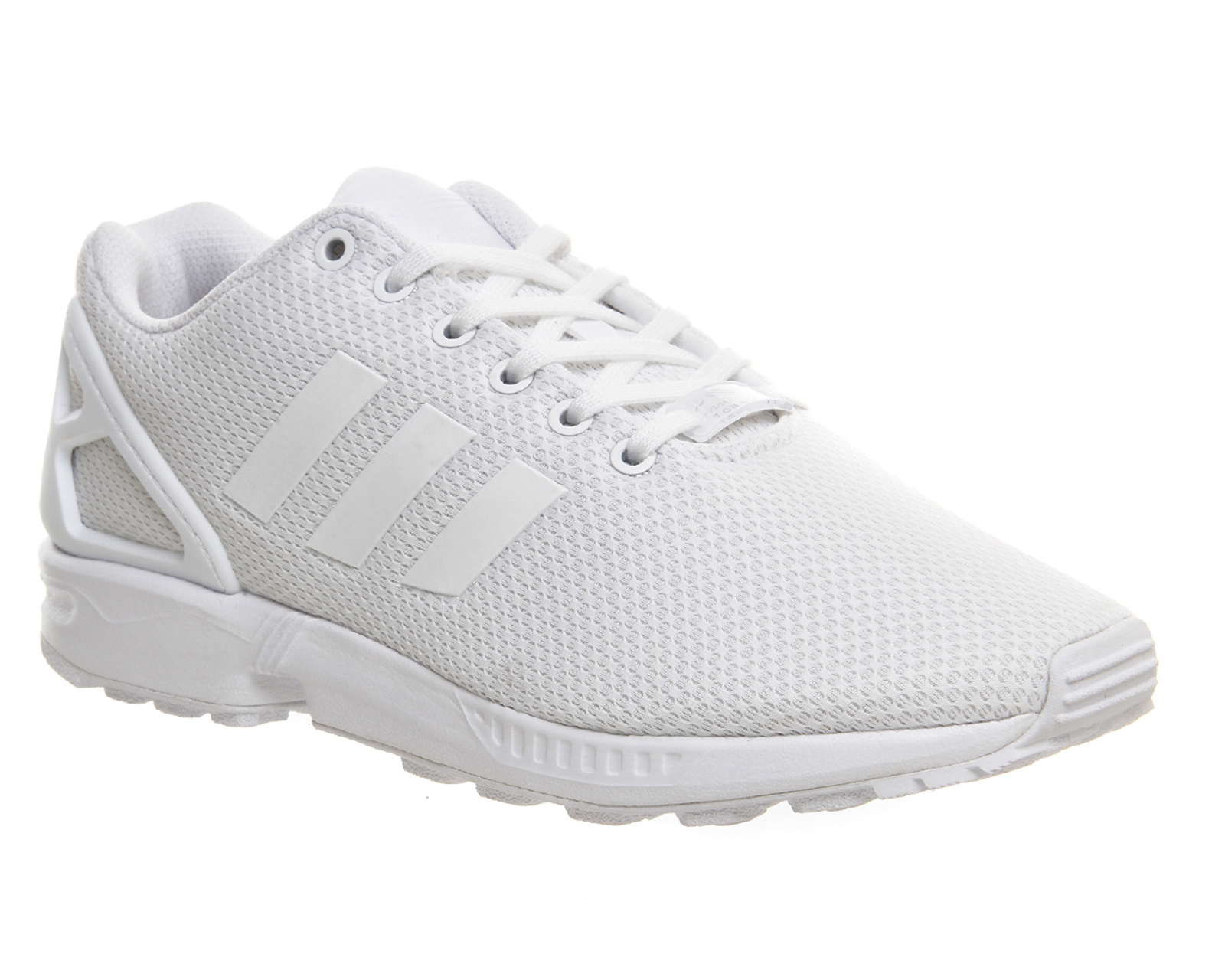 mens adidas zx flux triple white trainers shoes. Black Bedroom Furniture Sets. Home Design Ideas