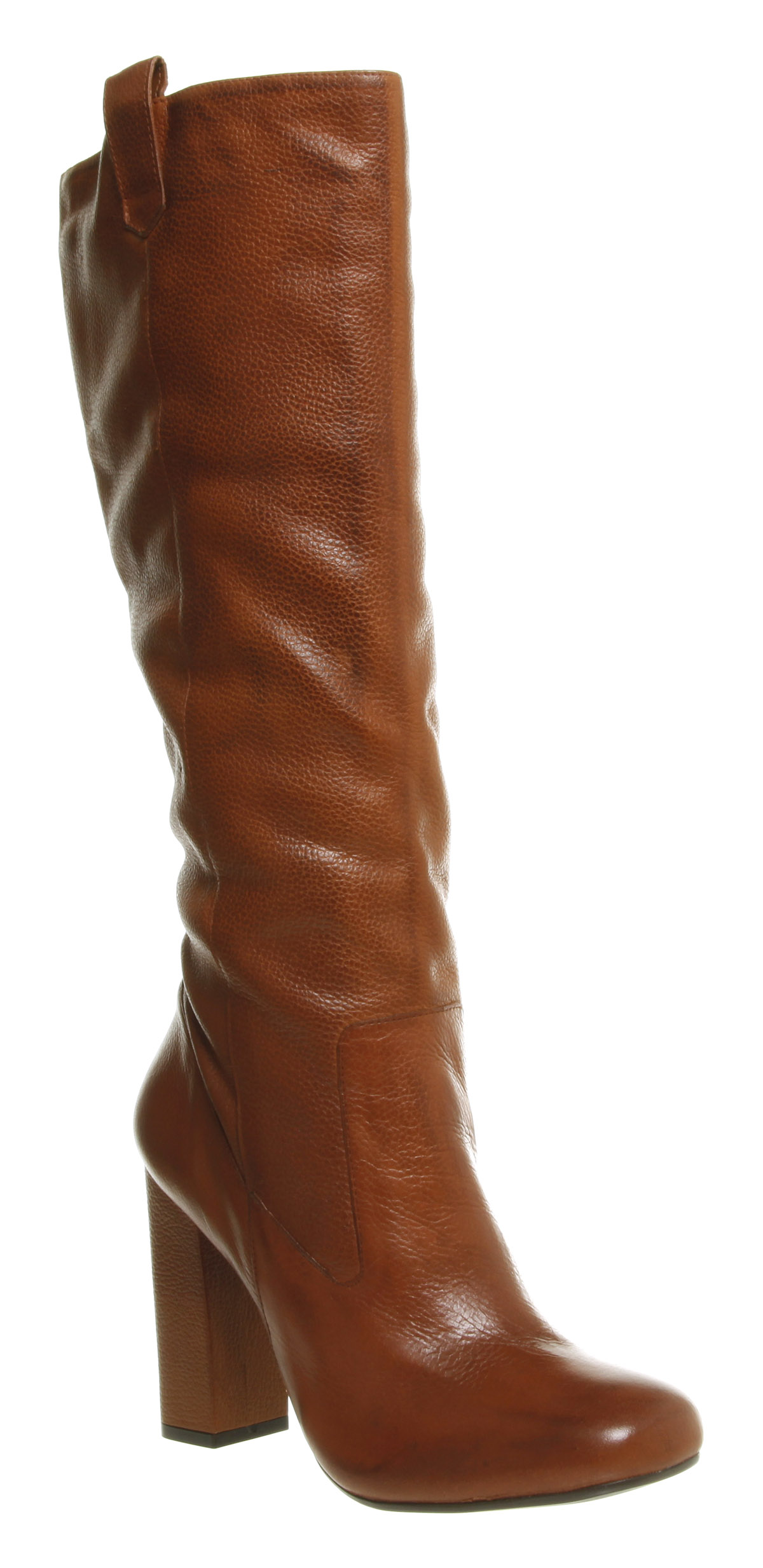 Women's Office Johnston Knee High Square Toe Tan Leather Boots | eBay