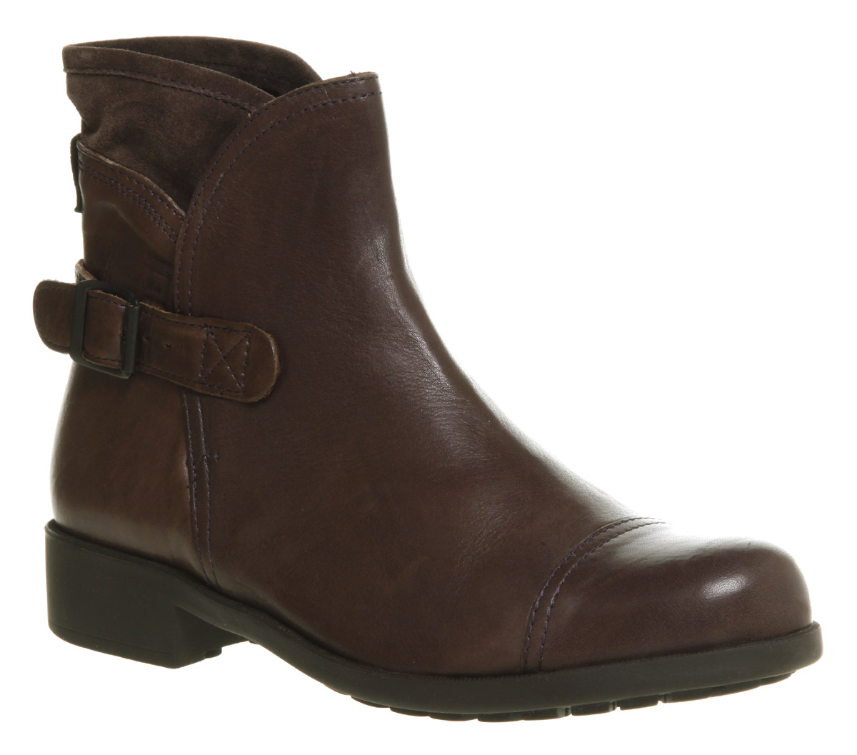 Brown Leather Ankle Boots Womens