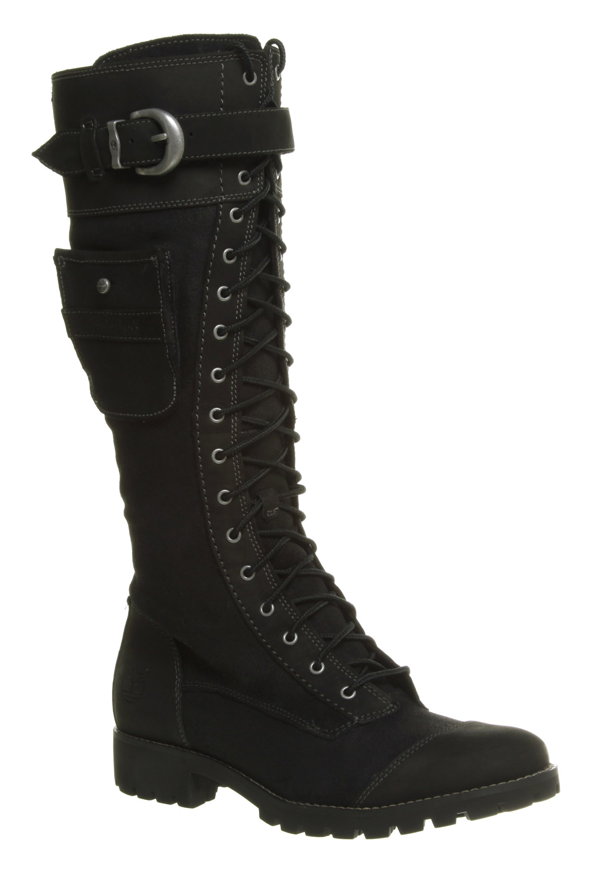 Women's Timberland Atrus Knee High Zip/Lace Up Black ...