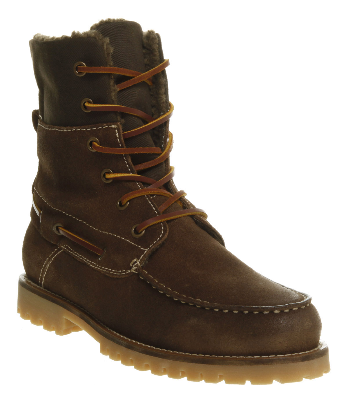 Mens-Ask-The-Missus-Kayak-Boat-Khaki-Brown-Suede-Boots