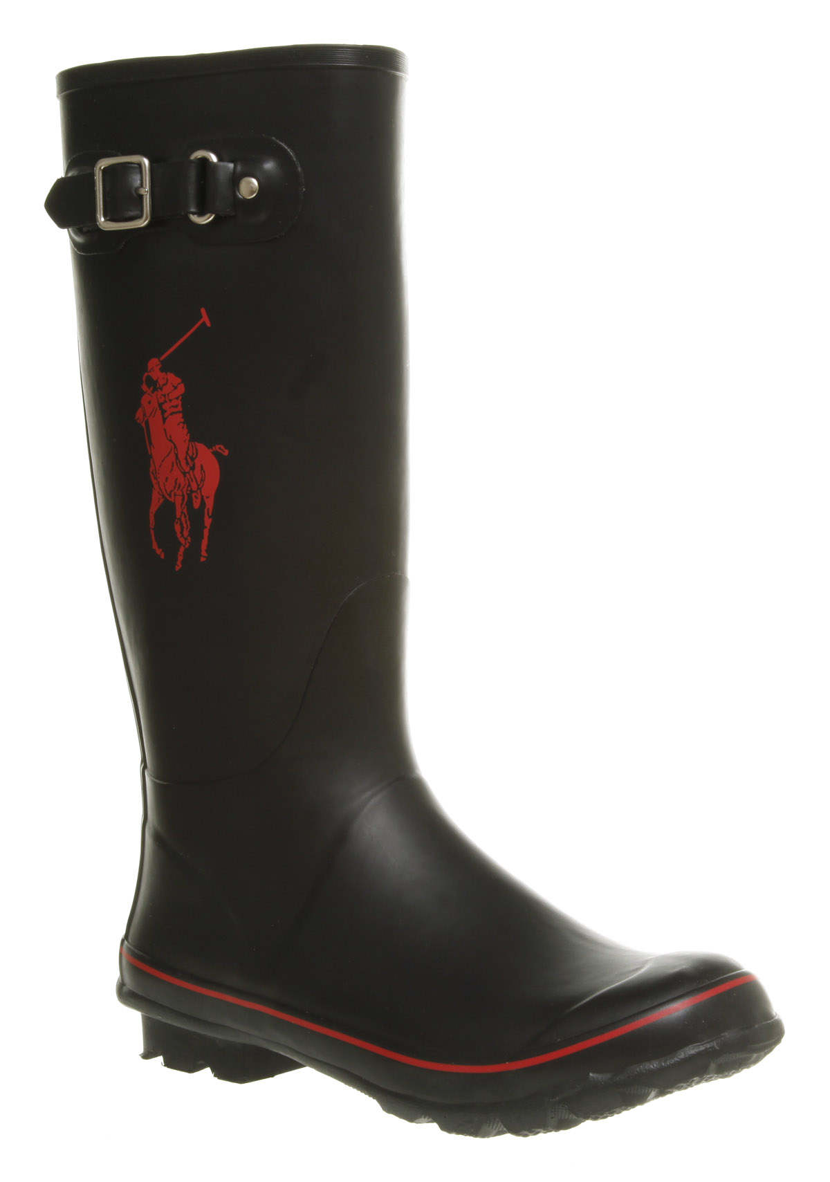 mens ralph matteo black rubber wellington boots ebay