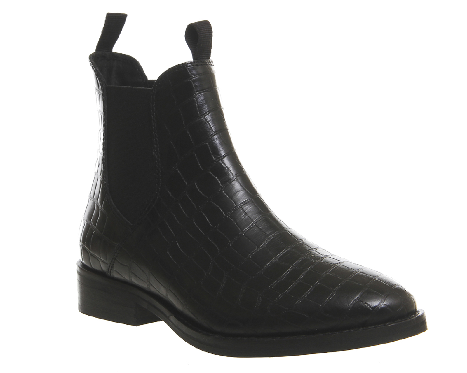 womens office cockney high cut chelsea boots black croc. Black Bedroom Furniture Sets. Home Design Ideas