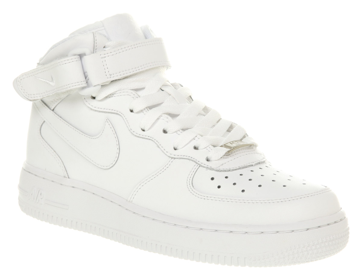 All White Nike Free Shoes