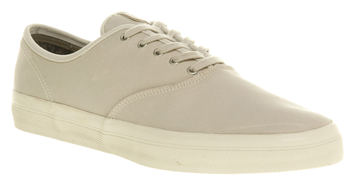 mens lacoste leighton grey canvas lace up casual trainers