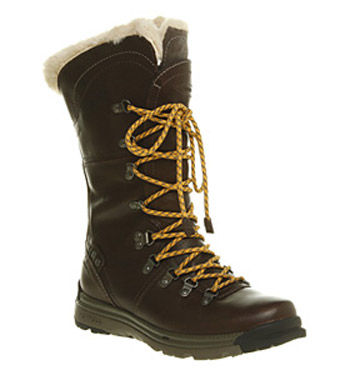 Womens Merrell Natalya Insulated Waterproof Zip Up Brown Leather ...