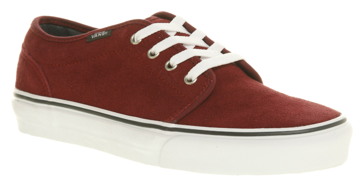 741f9f67ea Vans 106 Vulcanized Tawny Port Red Suede Vontage Skate Trainer Shoes ...