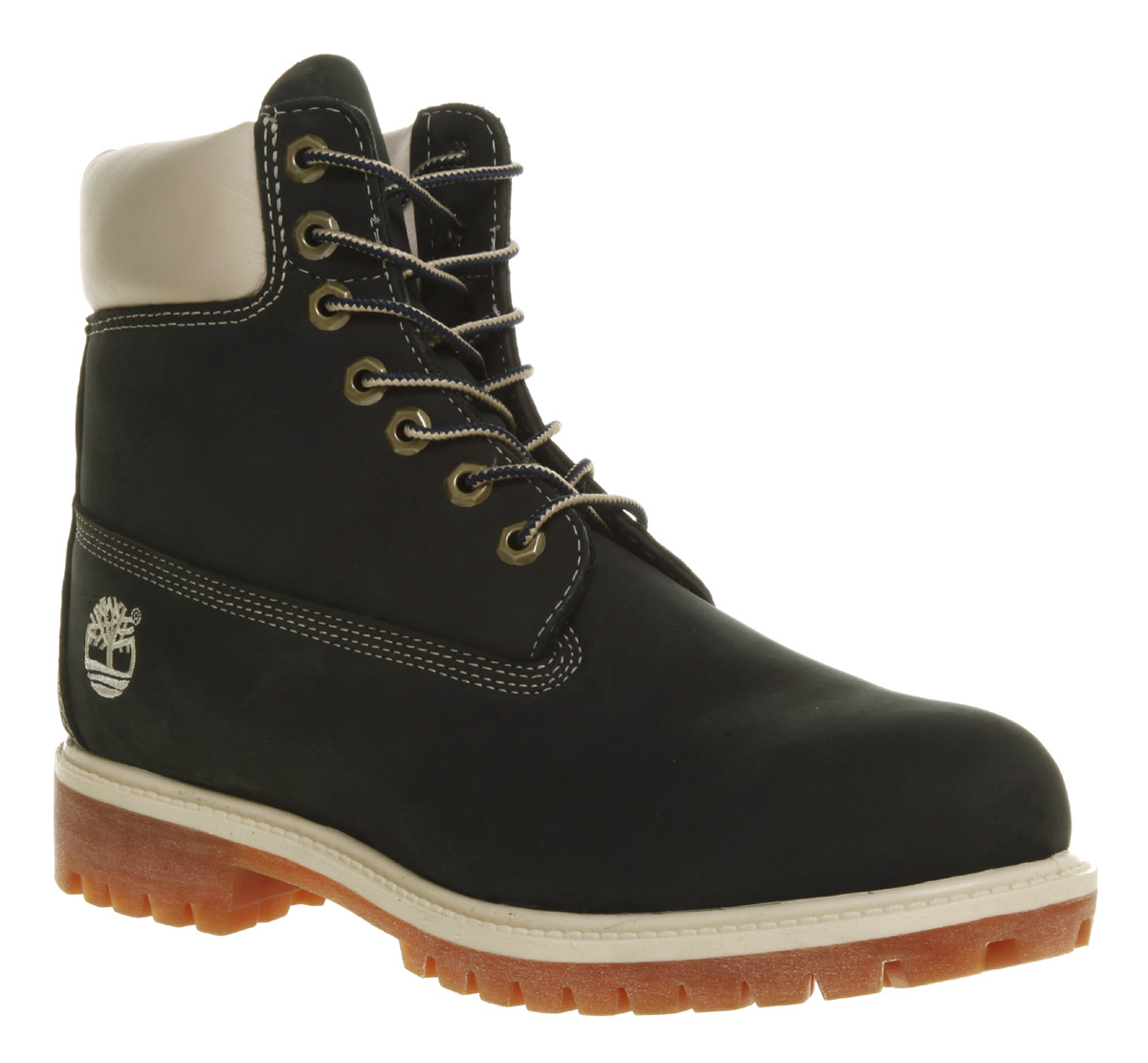 Image is loading Mens-Timberland-6-Inch-Buck-Boot-Navy-Waterproof-