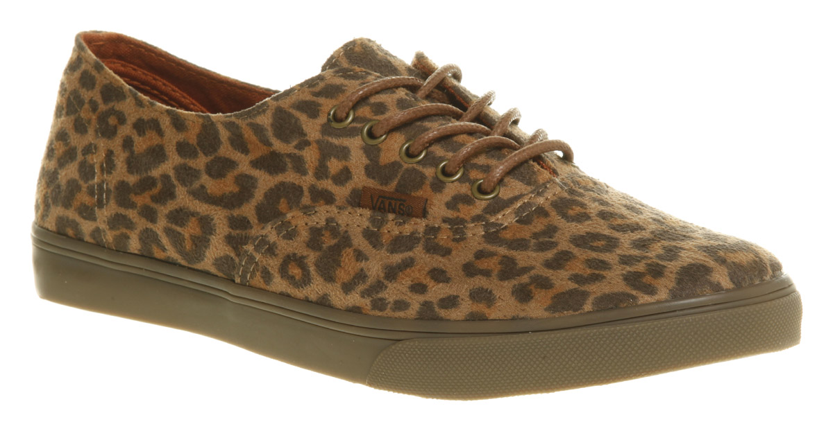 vans authentic lo pro leopard suede pumps