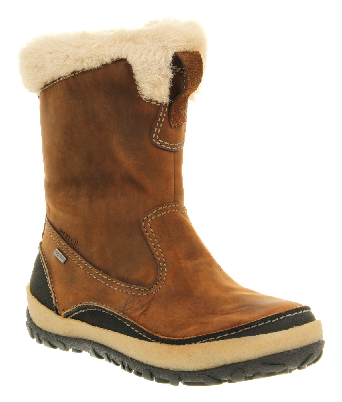 Womens Merrell Taiga Zip Up Camel Brown Waterproof Leather ...