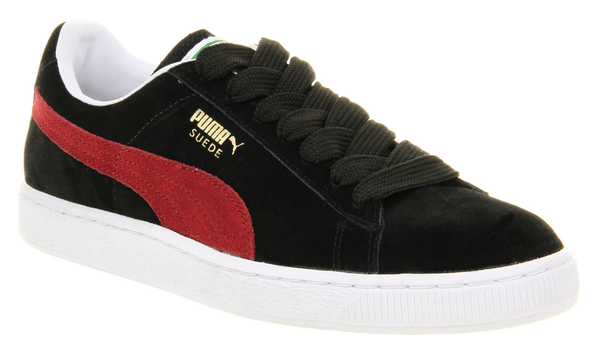 Puma Suede Black And Red