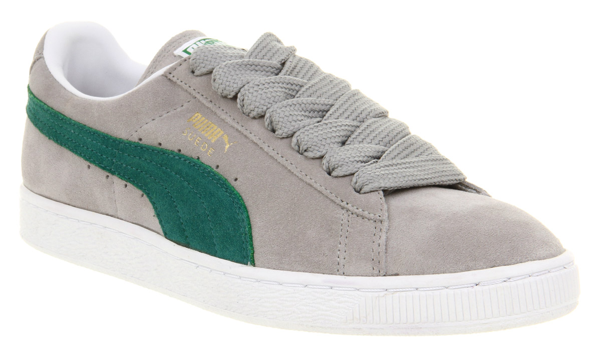 Puma Shoes Grey And Green
