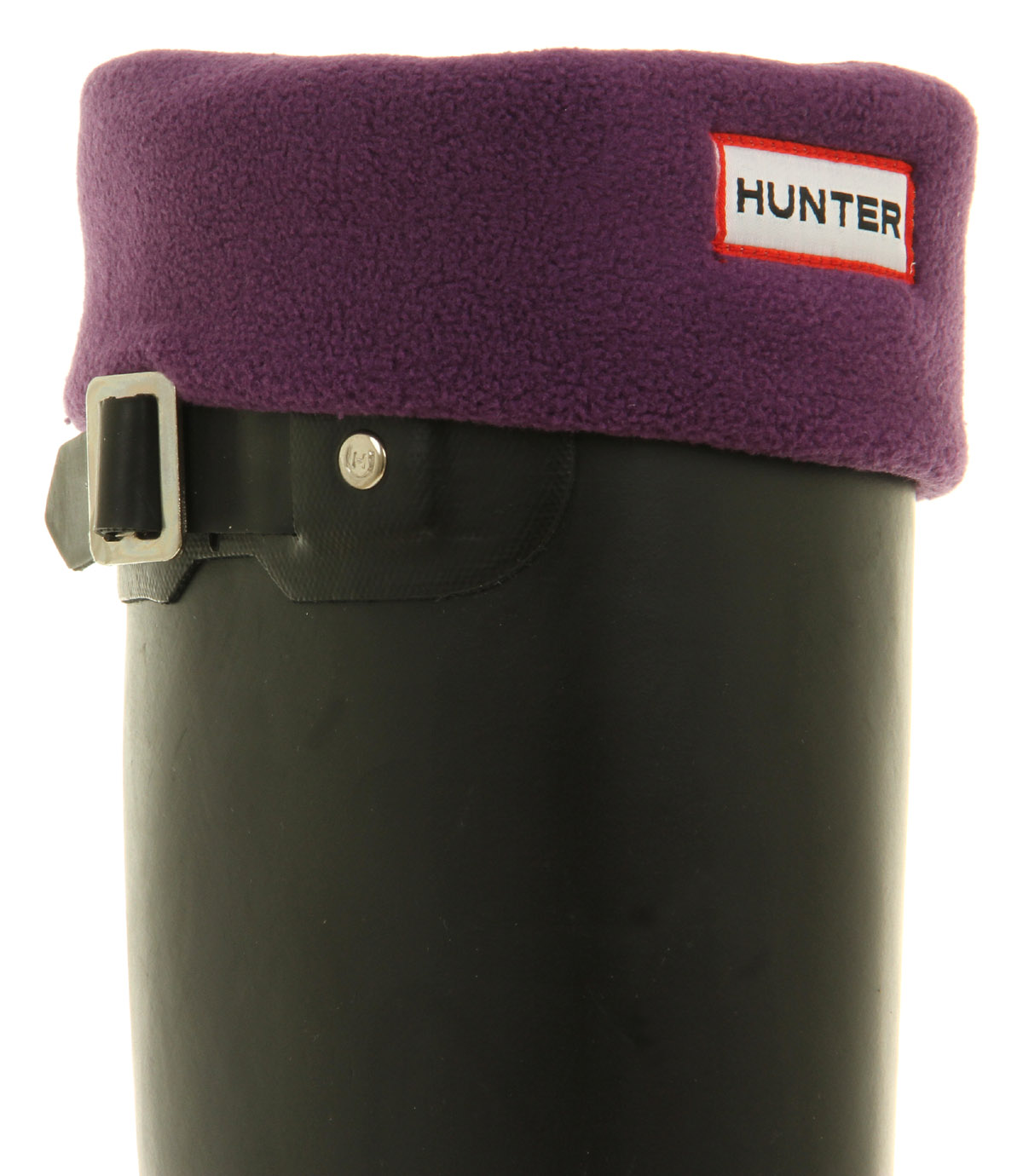 Womens-Hunter-Accessories-Fleece-Welly-Socks-New-Aubergine
