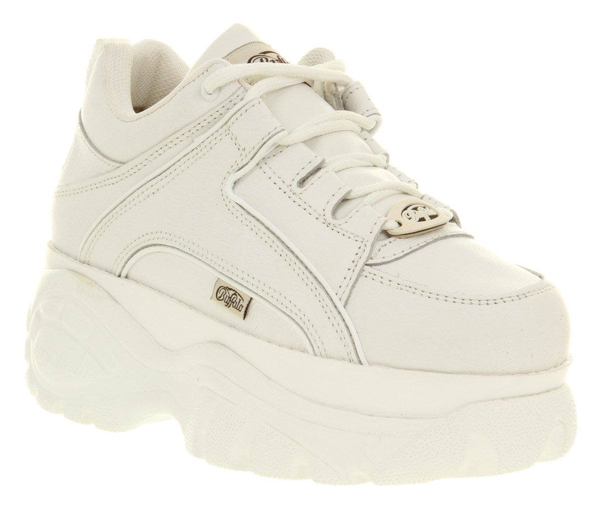 Womens Wedge Oxford Shoes White