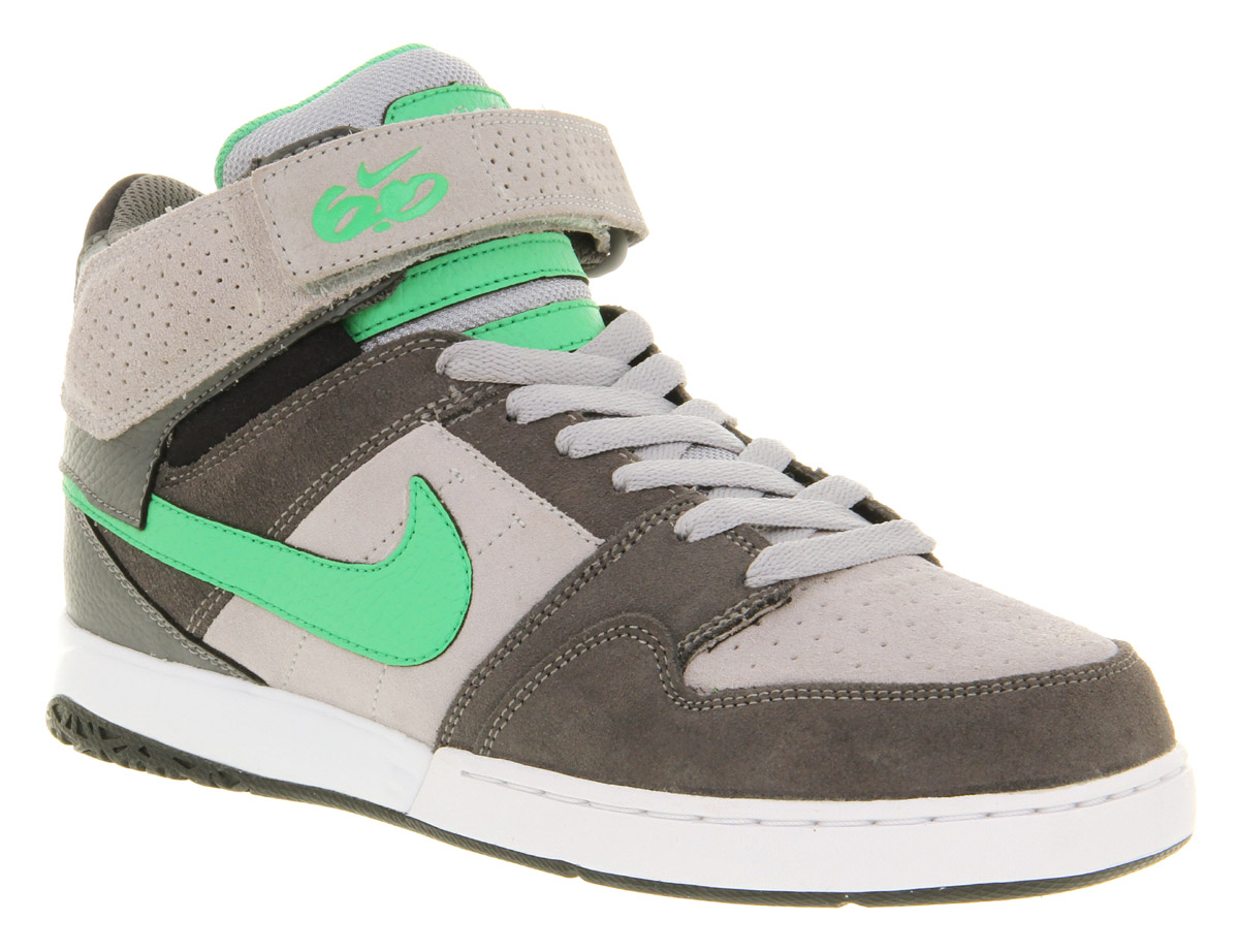Mens-Nike-Mogan-Mid-2-Dark-Grey-Green-Casual-Ankle-Strap-Lace-Up-Trainer-Shoes