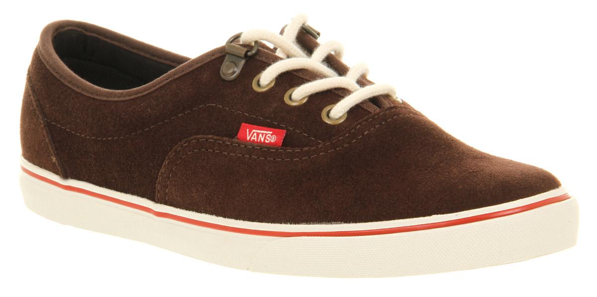 vans lo pro suede shoes brown