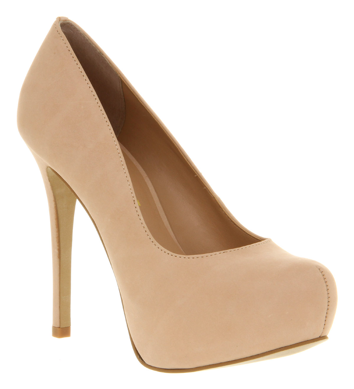 Womens Office After All Nude Pink Nubuck Platform High Heel Court ...