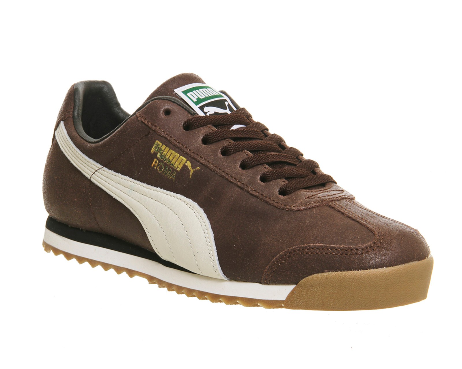 puma roma distressed brown whisper white trainers shoes ebay