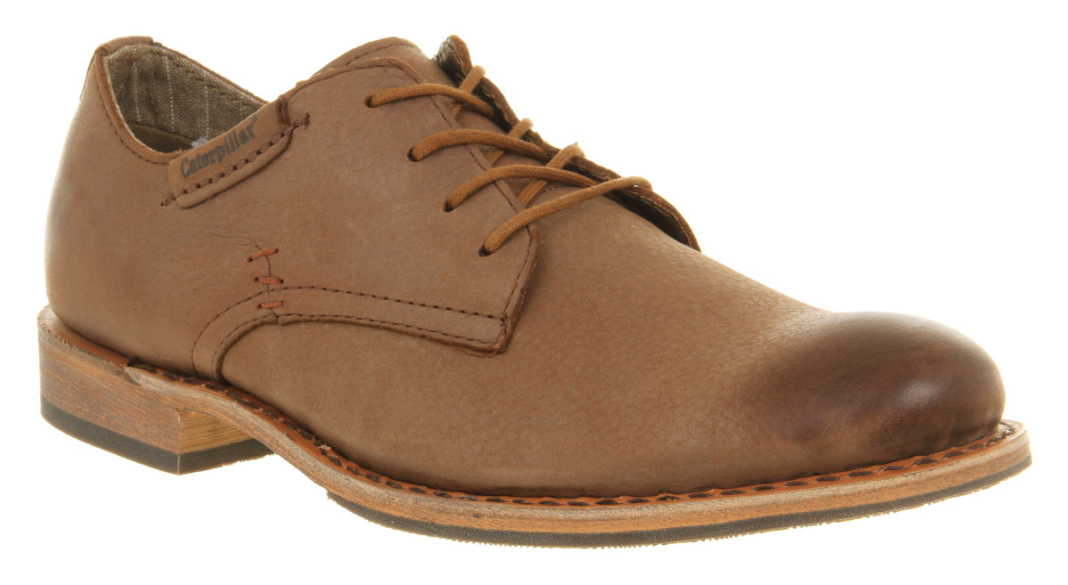 mens caterpillar miller brown distressed suede formal lace