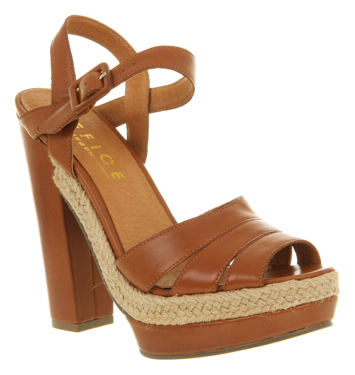 Womens-Office-Kick-Back-Relax-Tan-Brown-Leather-High-Block-Heel-Sandals