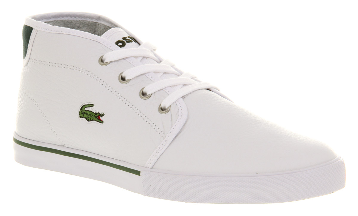 Image is loading Mens-Lacoste-Ampthill-Casual-Lace-Up-White-Leather-