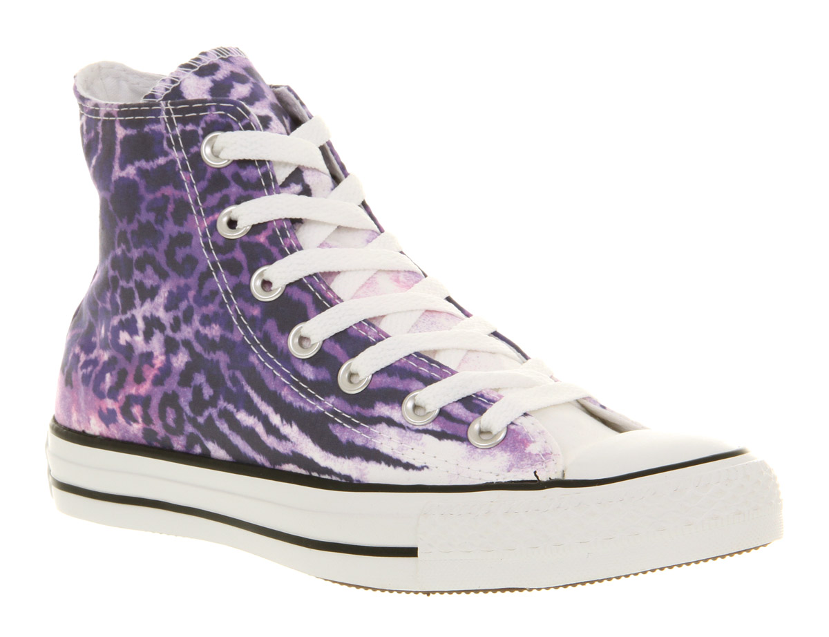 Purple Converse trainers