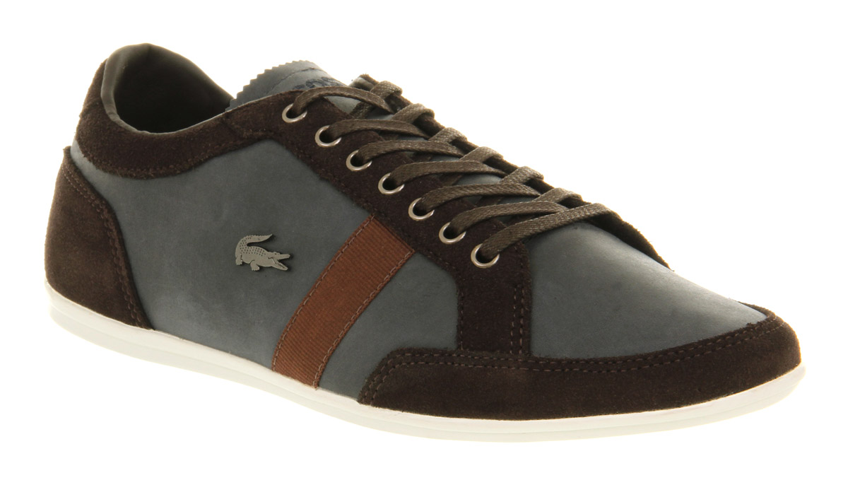 Mens-Lacoste-Mad-Lace-Gibson-Dark-Brown-Suede-Casual-Shoes