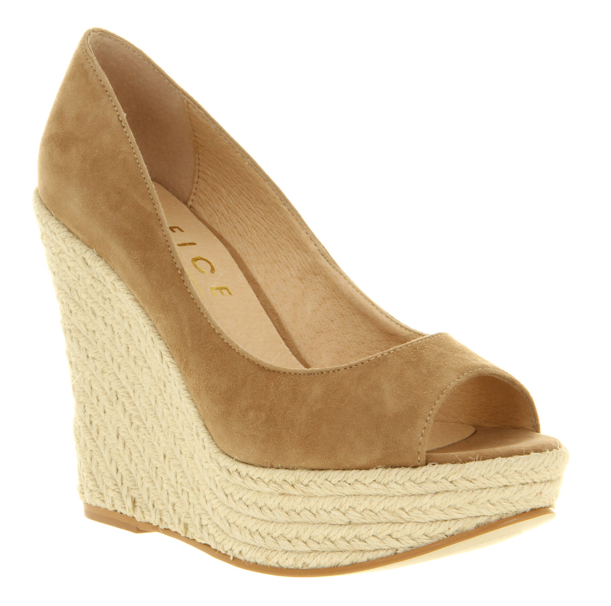 Doting fashionistas will agree, this covered wedge sling with perf detailing is inspiring