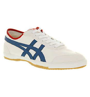 Mens-Asics-Retro-Rocket-White-Royal-Blue-Casual-Canvas-Lace-Up-Trainers-Shoes
