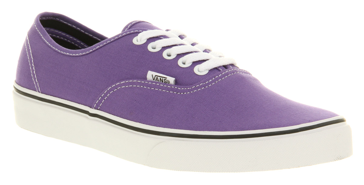 Unisex Vans Authentic Passion Flower Purple/Black Lace Up ...