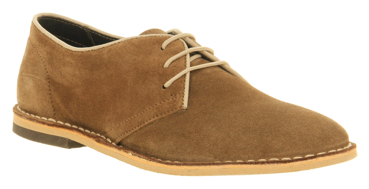 Mens Ask The Missus Cracker Desert Shoe Beige Suede Casual ...