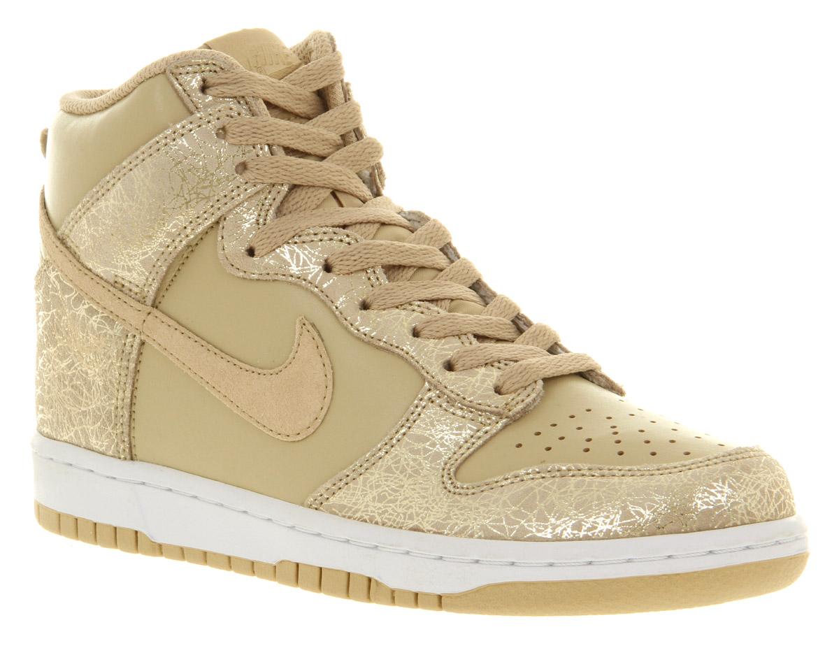 womens nike dunk hi gold grain trainers shoes