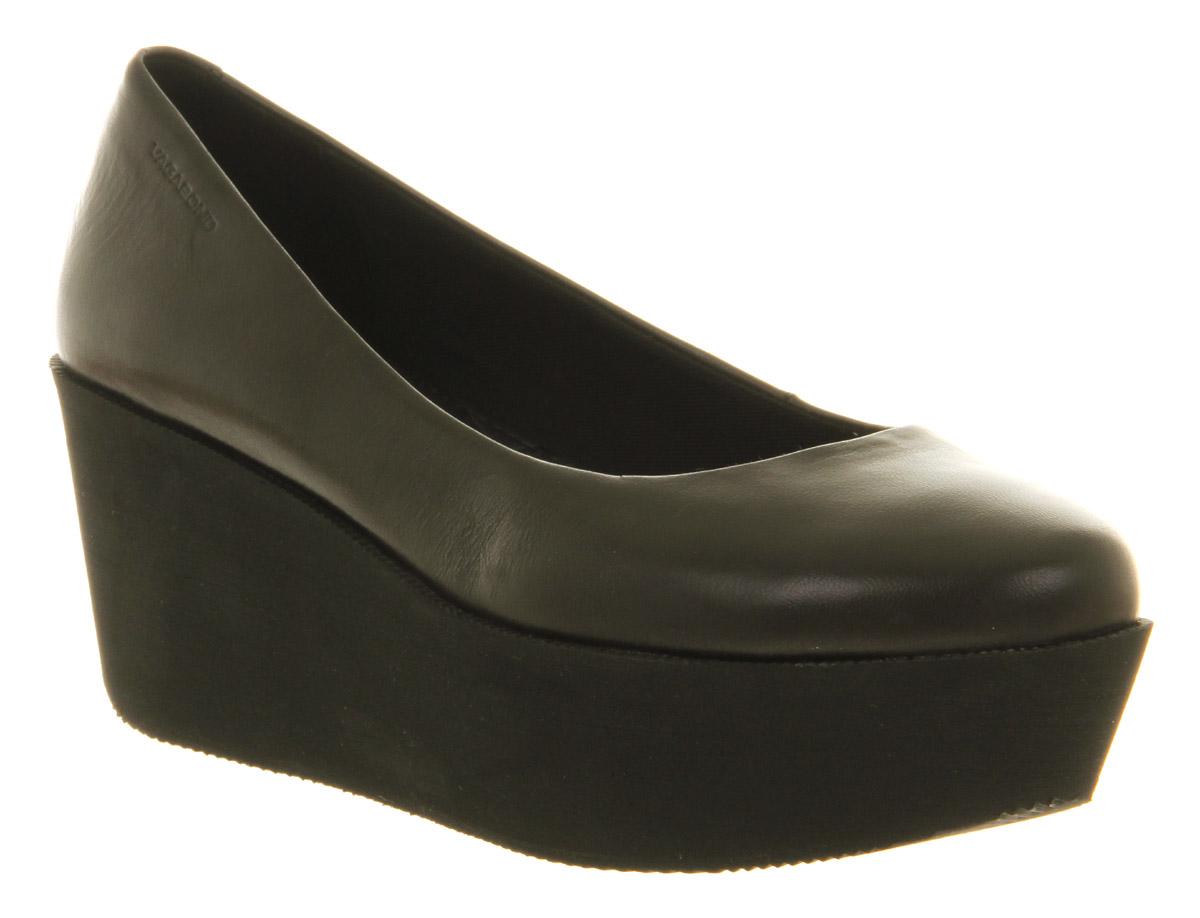 7a9bd5c19164 Black Platform Sandals  Vagabond Conga Black Flatform Sandals