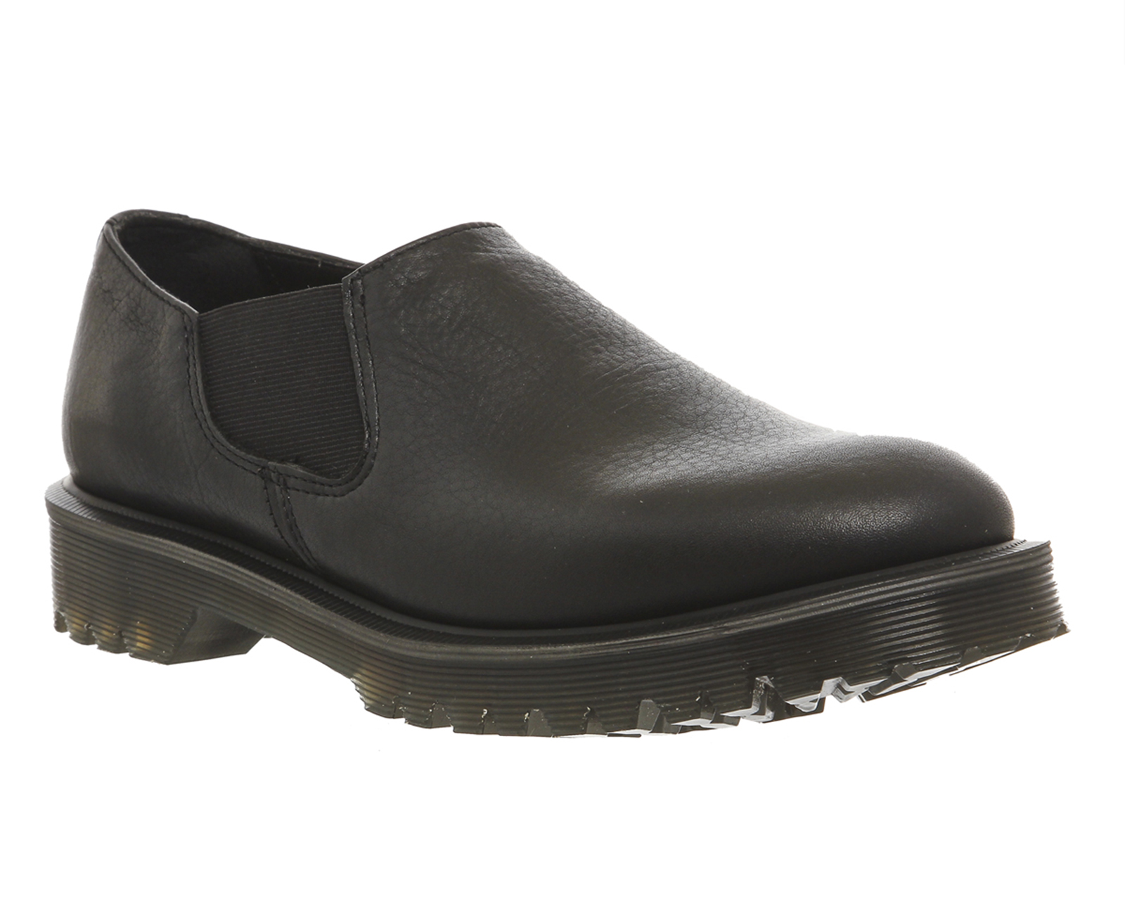 womens dr martens louis slip shoes black leather