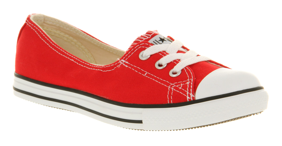 Perfect Women's Converse Dance Lace Red Dance Lace Shoes