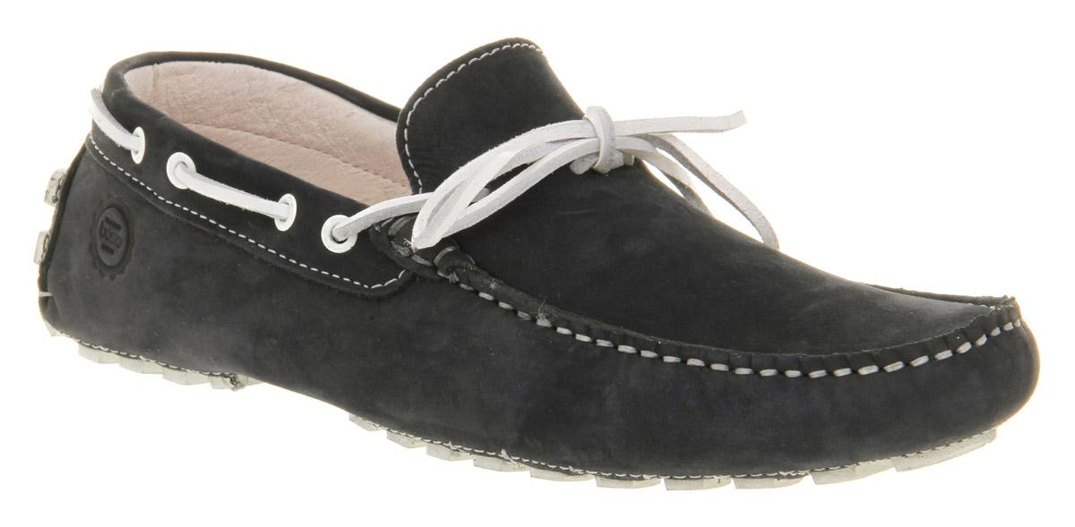 Mens-Base-Celsius-Driver-Navy-Blue-Suede-Lace-Up-Casual-Shoes