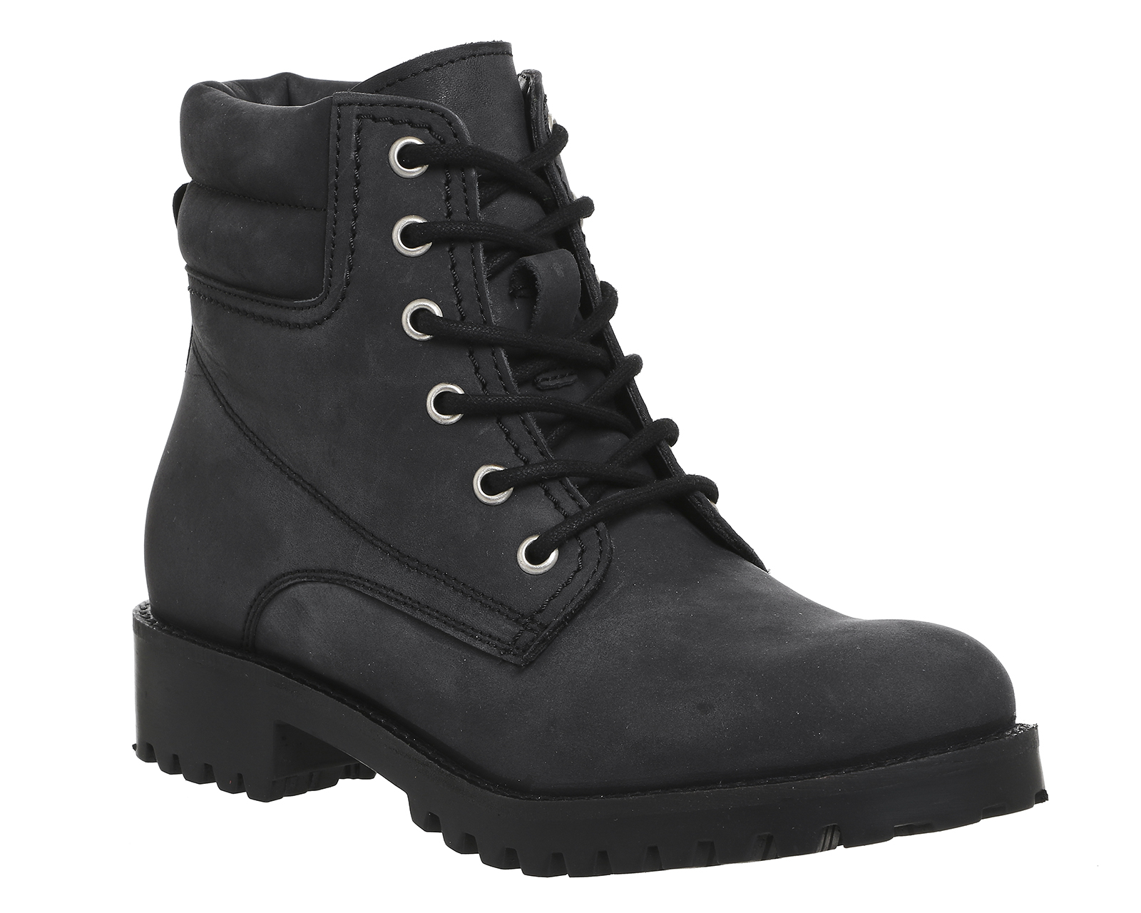 womens office adventure utility ankle boots black nubuck