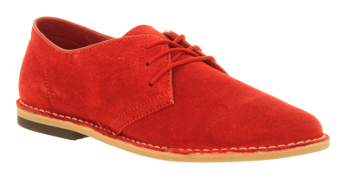 Mens Ask The Missus Cracker Desert Shoe Red Suede Casual Shoes | eBay