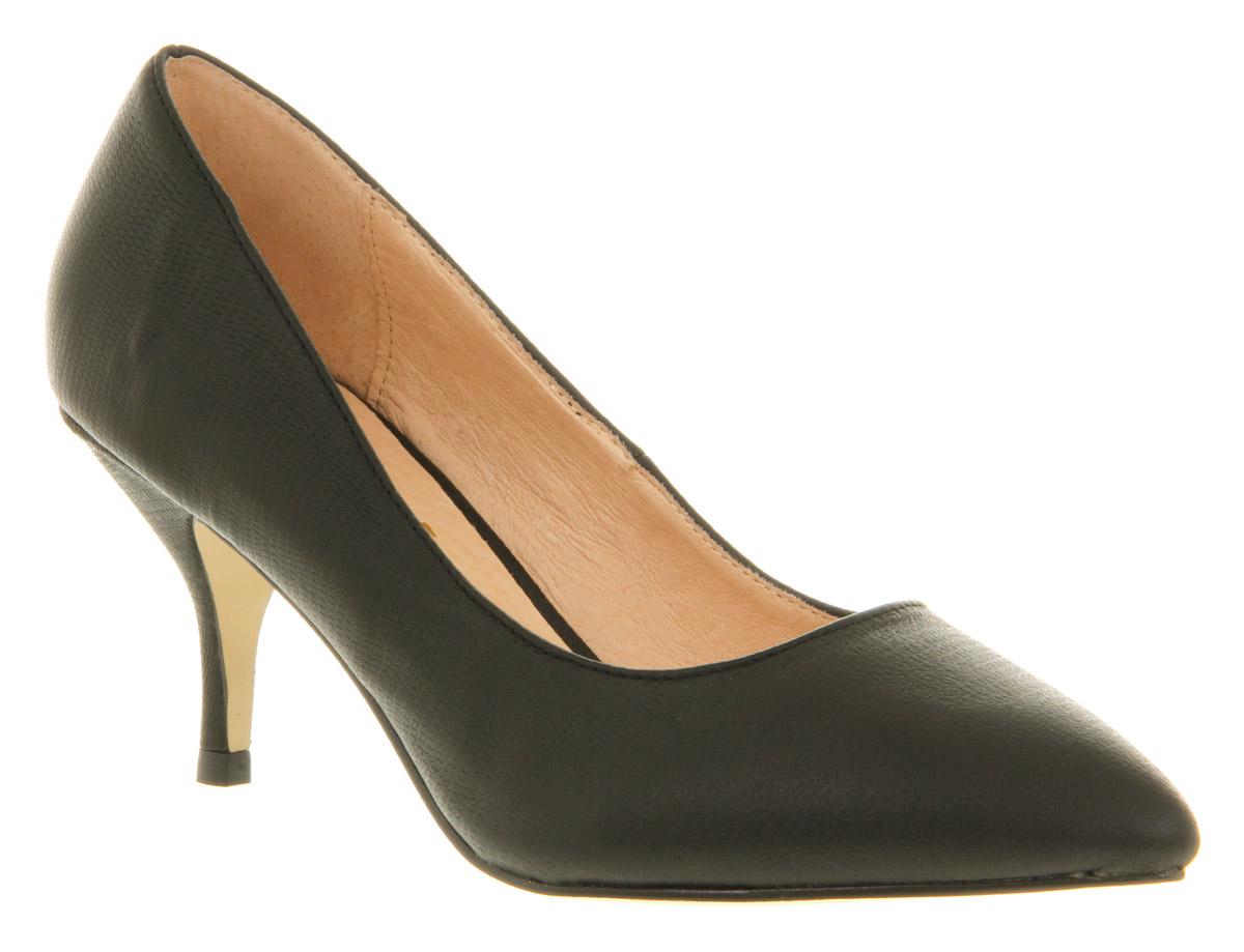 womens office vital court black lizard heels shoes ebay
