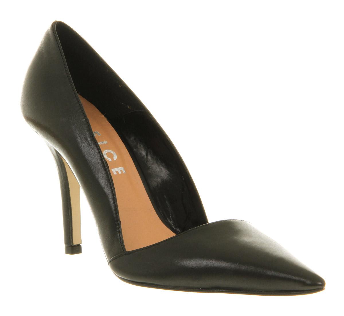 Womens-Office-Kick-Ass-Court-Black-Leather-Heels-Shoes