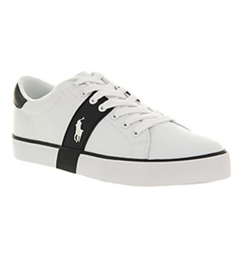 Mens-Ralph-Lauren-Burwood-Pure-White-Trainers-Shoes